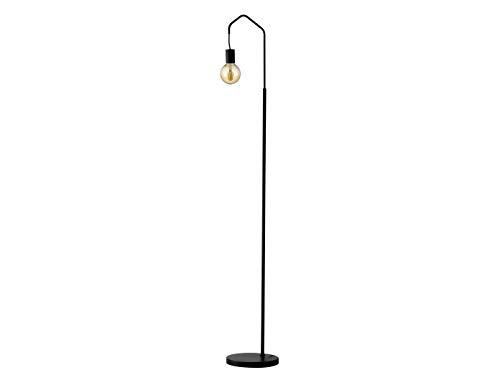 Lámpara de pie LED con forma de arco, altura de 165 cm, color negro