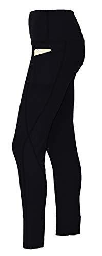 Private Island Hawaii Damen UV-Rashguard-Taschen, Lange Leggings, Hose, Taille, Hose, für Outdoor/Yoga/G/Pilates-Kleidung/RMLPP - schwarz - XX-Large
