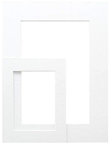 Deknudt SP10913X18_10,0x15,0 - Paspartú Extra Blanco con Corte, cartón y Papel, 15