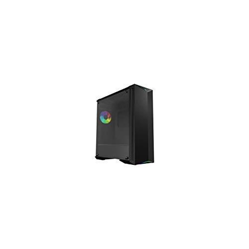 MSI MPG GUNGNIR 100 Mid-Tower ARGB Caja de PC Gaming (Negro, 1 x 120 mm ARGB + 3 x 120 mm Ventiladores Incluidos, Panel Cristal Templado, EATX, ATX, mATX, Mini-ITX)