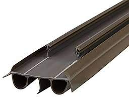 KS Hardware Kerf Style Replacement Door Bottom with Double Bubble, 31-3/4 inch, Brown