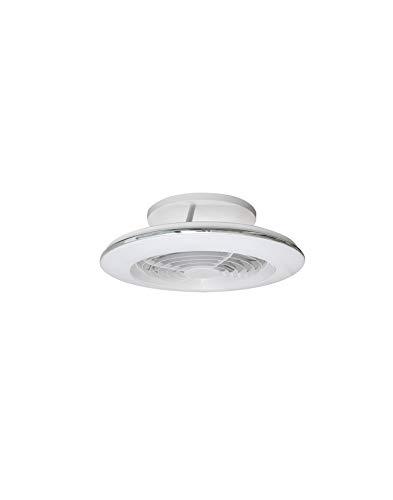Plafón Ventilador LED ALISIO MINI Mantra Blanco con Mando y APP