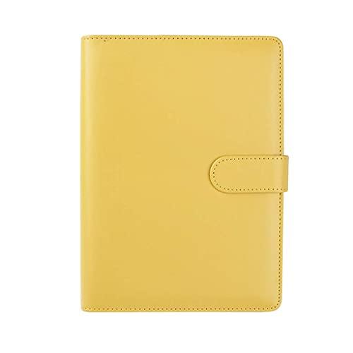 NZKW Cuadernos A5 / A6 Cuaderno Multicolor para Engrosamiento Simple Diario Universitario Minutos de reuniones Papelería de Oficina Cuaderno de Trabajo Diario de Negocios Diario (Color: