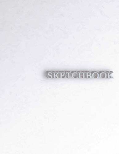 Sketchbook: 110 Blank Pages, 8.5 x 11 inches, Sketch Pad for Drawing, Doodling, Writing or Sketching - 3D Silver Edition