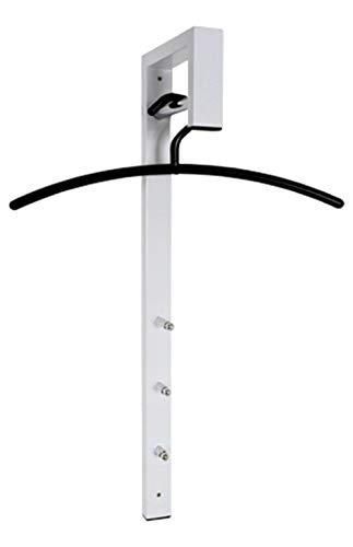 Haku Möbel Wandgarderobe - Stahlrohr weiß lackiert 3 Haken Höhe 70 cm