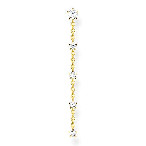THOMAS SABO Pendientes para mujer, de plata de ley 925, chapado en oro amarillo de 18 quilates H2194-414-14