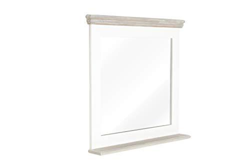 massivum Spiegel Russel 80x78x13 cm Paulownia weiß lackiert
