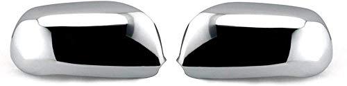 ZHAOOP Cubiertas de Espejo retrovisor de Coche, Cubierta de Espejo Lateral cromada, para Audi A6 S6 C4 C5 A8 S8 D2, Cubierta de Espejo de Puerta (Color: Cromo) -Cromo