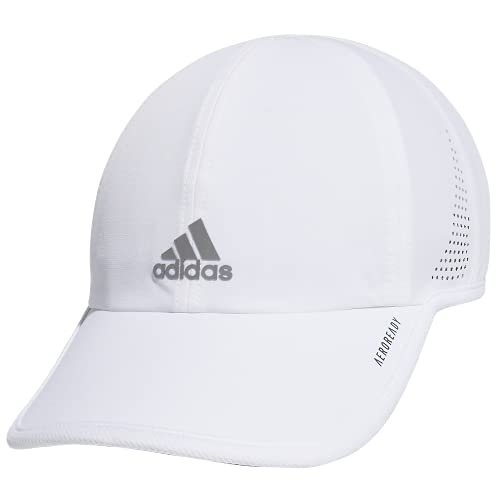 adidas Women's Superlite Relaxed Adjustable Performance Cap, White/Silver Reflective, One Size