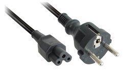 Netzkabel Schutzkontakt Stecker auf IEC Kupplung 320 C5, Länge: 2m, schwarz