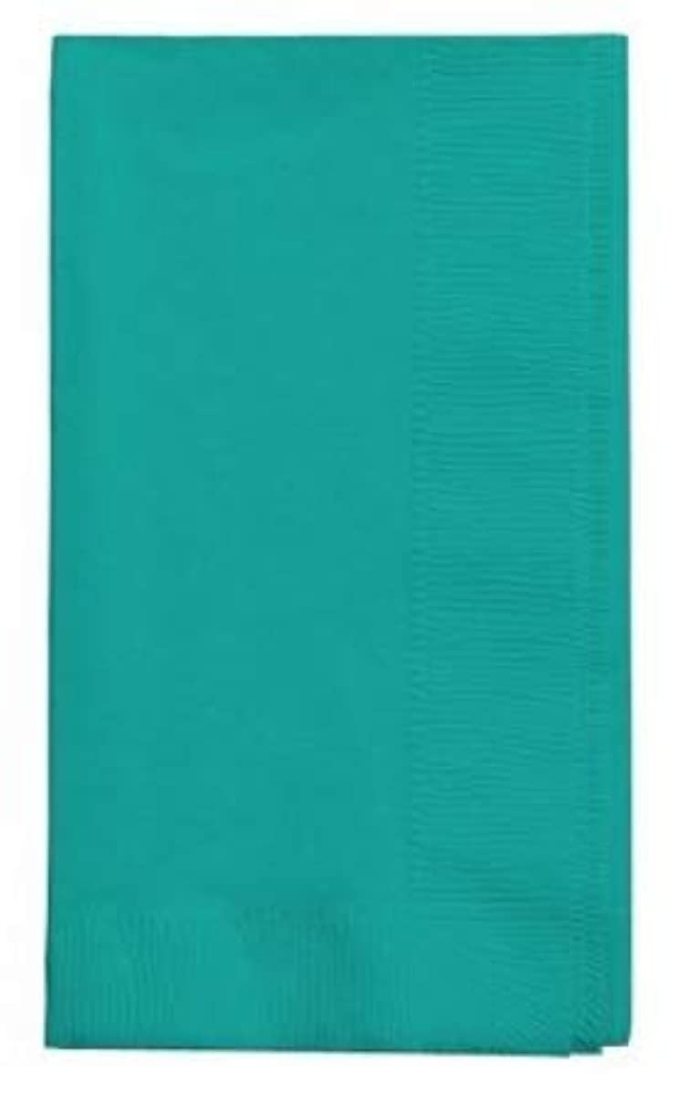 100 Teal Dinner Napkins for Wedding, Party, Bridal or Baby Shower, Disposable Bulk Supply Quality Product (Teal)