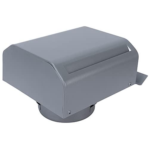 Tampa de ventilação de parede, malha de aço inoxidável forte e durável Saída de exaustão do ventilador para ventilação interna e externa para saída de ar do exaustor(150mm pipe diameter)