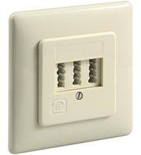 Telefoondoos | TAE inbouwdoos NFF | Voor twee telefoons en een bijzetstuk