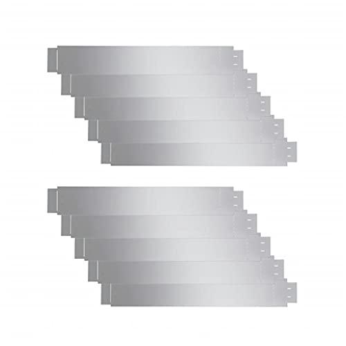 vidaXL 10x Rasenkante Flexibel Verzinkter Stahl 100x14cm Gartenzaun Rasenzaun Beetumrandung Rasenbegrenzung Beeteinfassung Mähkante