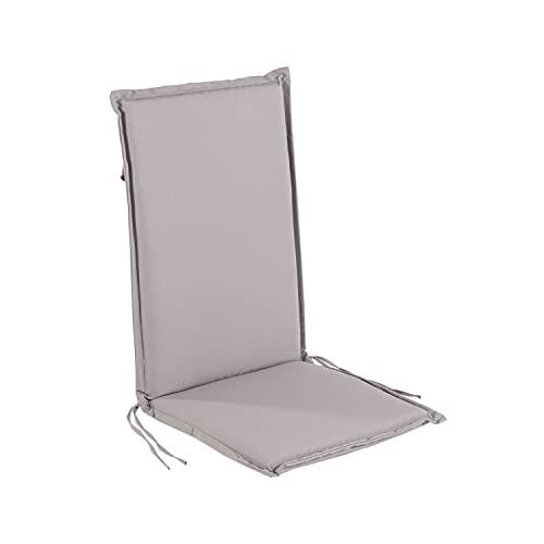 Edenjardi Cojín para sillón de jardín reclinable estándar Piedra, Tamaño 109x42x4 cm, Desenfundable