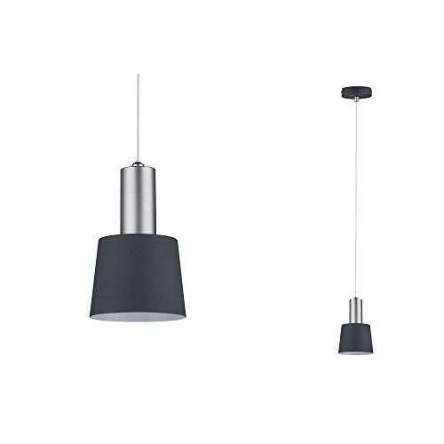 Paulmann 79691 Neordic Haldar Pendelleuchte max. 1x20W Hängelampe für E14 Lampen Deckenlampe Dunkelgrau/Chrom matt 230V Metall ohne Leuchtmittel