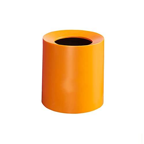 YIFEI2013-SHOP papeleras Baño Basura Bote de Basura Bote de Basura Bote de Basura para el hogar baño baño baño Sala de Estar Oficina Oficina Bote de Basura (Color : Orange)