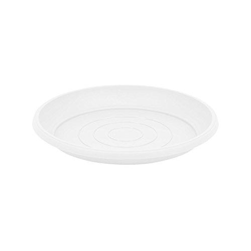 Terra soucoupe en plastique, blanche couleur, diametre: 29 cm