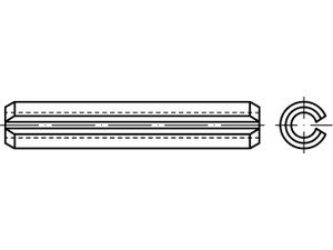 ISO 8752 Federstahl Spannstifte (-hülsen), geschlitzt, schwere Ausführung - Abmessung: 40x55 (1 Stück)