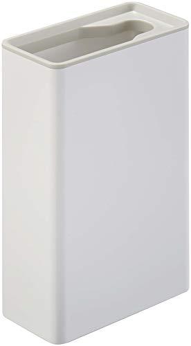 山崎実業(Yamazaki) 流せるトイレブラシスタンド プレート ホワイト 約W5.5XD11XH17cm プレート トイレブラシケース 4857