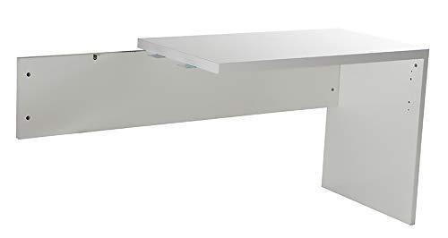 Amazon Marke - Movian - Schreibtischerweiterung, 100 x 72,5 x 60cm, Hochglanz Weiß