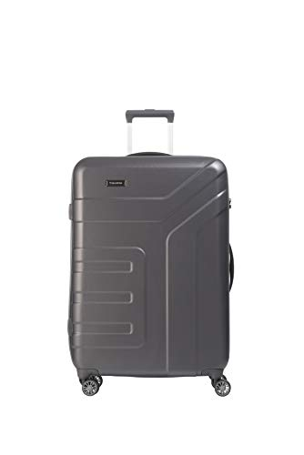 "Travelite Valise trolley ""Vector"" avec 4 roues anthracite Maleta, 77 cm, 103 liters, Negro (Anthracite)"