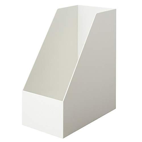 無印良品 ポリプロピレンスタンドファイルボックス・ワイド・A4用・ホワイトグレー 約幅15×奥行27.6×高さ31.8cm 38907565