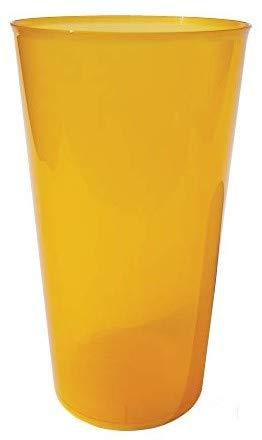 TELEVASO - 420 uds Granel - Vaso Cocktail 480 ml Reutilizable Ligero - Polipropileno (PP) - Color Naranja - Vaso ecológico Libre de BPA, Ideal para Cerveza, cubatas, Agua