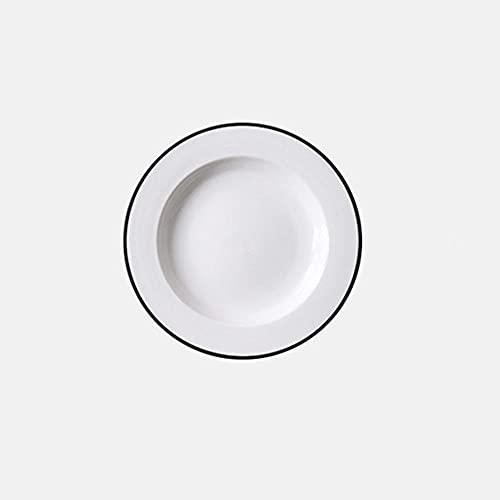Juego de vajilla de Tableware, de plato, taza y cuenco, revestimiento de esmalte blanco, estilo clásico, vajilla de camping.