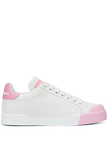 Moda De Lujo | Dolce E Gabbana Mujer CK1802AW11387587 Blanco Cuero Zapatillas | Primavera-Verano 21