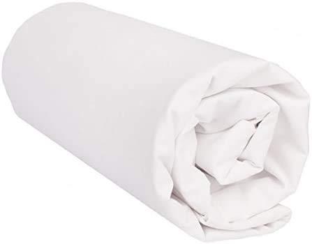 Sábana Bajera Ajustable 100% Algodón Texturas Oro Cama 150 (Blanco)