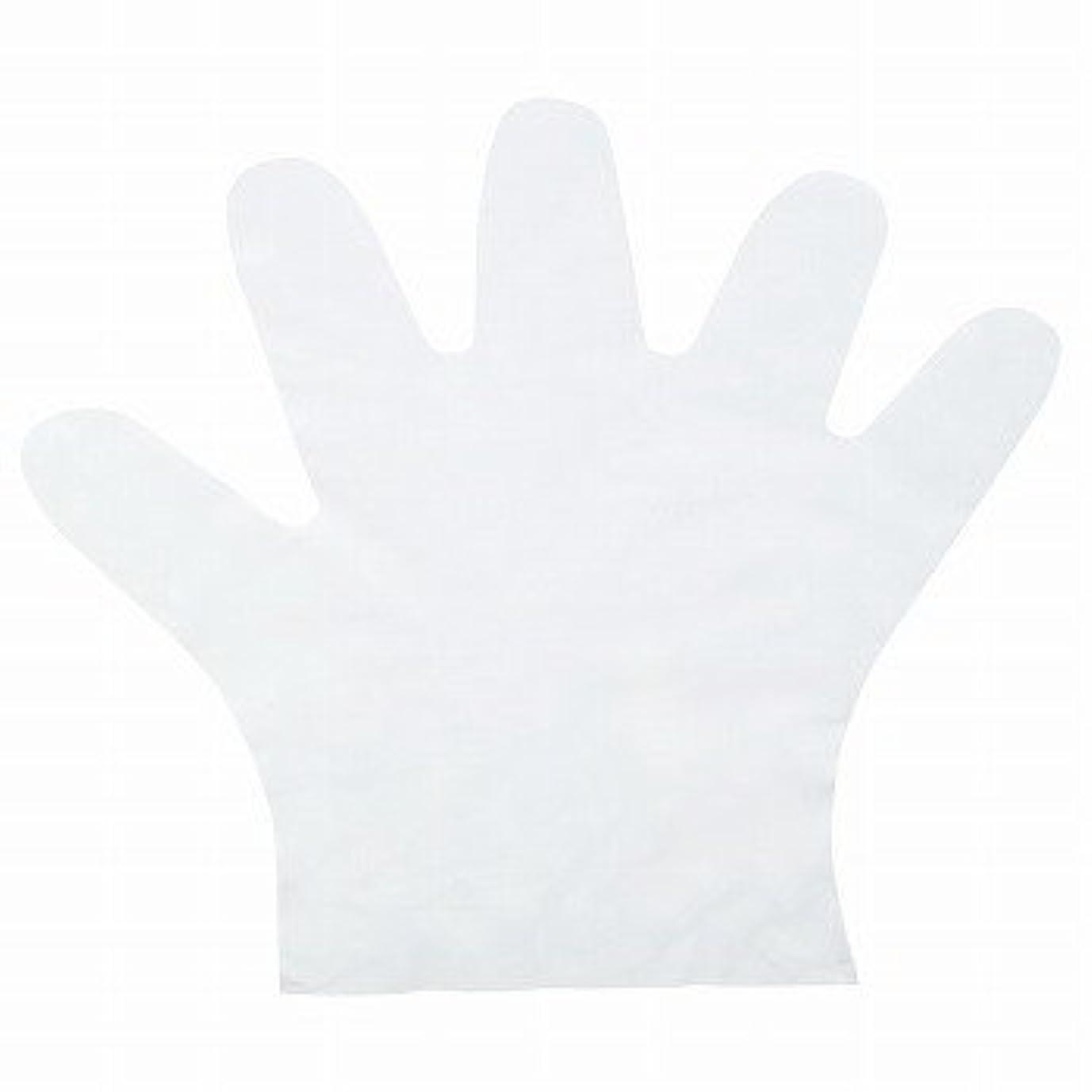 上回る長方形常習者おたふく手袋/ポリエチディスポ(LD) 100枚入×50セット[総数5000枚]/品番:248 サイズ:L