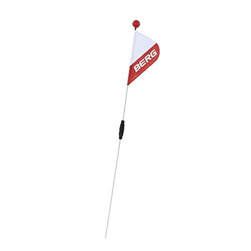 BERG Sicherheitsfahne, Für GO², Buzzy und Reppy Modelle, Länge: 120 cm, XS, Weiß/Rot