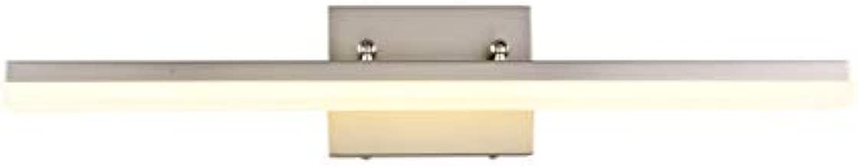 mirrea 24in Modern LED Vanity Light for Bathroom Lighting Dimmable 24w Brushed Nickel (Warm White 3000K)