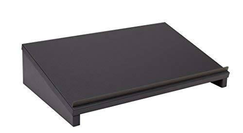 Herme24 Vorlagenhalter Laptopständer Lapdesk (VDL60) B/T/H 50 x 30 x 12 cm Laptoptisch Graphit Matt
