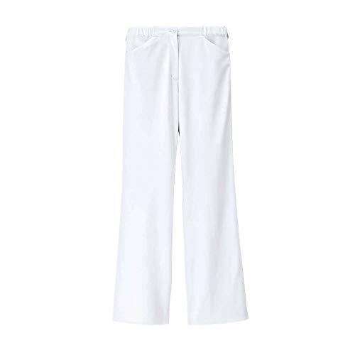 ナースリー ベーシックストレートパンツ 透け防止 ストレッチ 医療 看護 ナース 白衣 レディース S ホワイト 994101