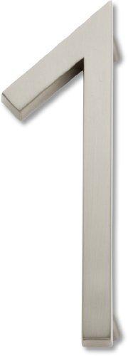 Atlas Homewares AVN1-BRN Modern Avalon 4.5-Inch No. 1 House Number, Brushed Nickel by Atlas Homewares (English Manual)