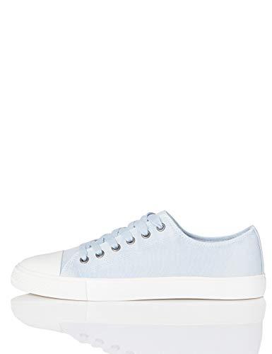 FIND Low-Top Canvas Sneaker, Blau (Washed Blue), 40 EU