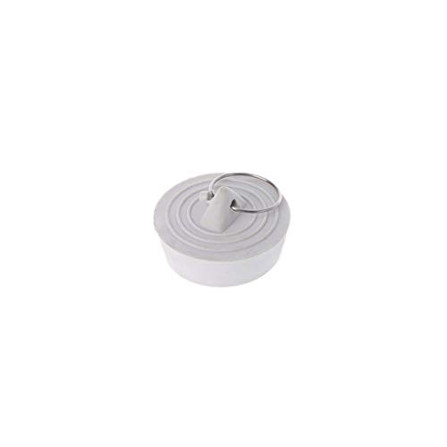 JIACUO Gummi-Wassersieb für Spüle und Abflusssieb, blockiert Abfluss, einfarbig, mit hängendem Ring, Küche, Badezimmer, Zuhause, Weiß, Silikon, weiß, 3.8x3.4x1.2cm