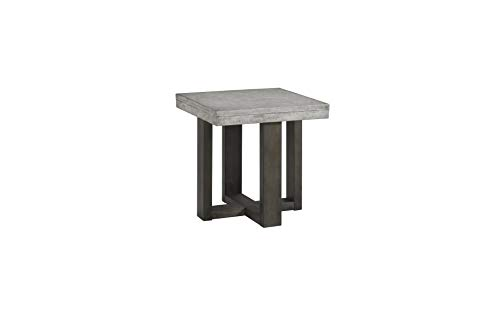 Lane Home Furnishings , End Table, Concrete top, dark brown base