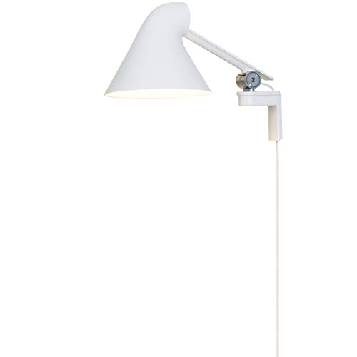 Lámpara NJP Wall Short, Louis Poulsen, Lámpara de Pared con Brazo Corto, Diseñada por nendo - Oki Sato (Blanco)