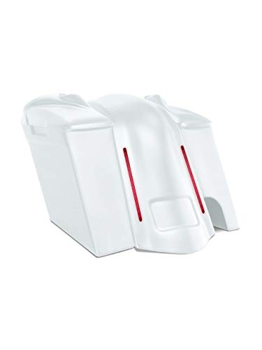 Learn More About Harley Davidson 6 extended stretched saddlebags and LED fender kit right side cut ...