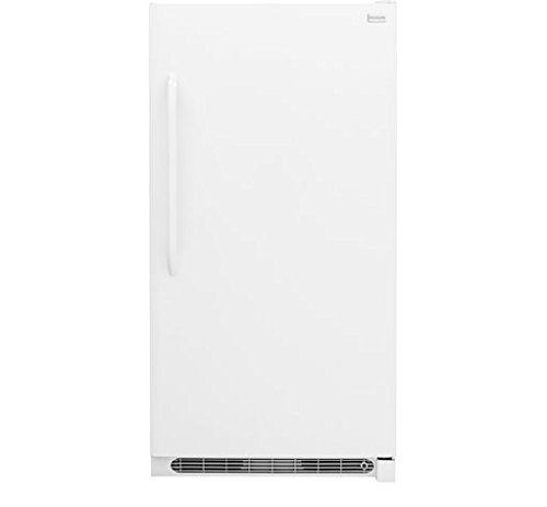 Frigidaire FFFU21M1QW 34' Upright Freezer with 20.9 Cu. Ft. Capacity Bright Lighting Thicker Walls Lock With Pop-Out Key Adjustable Temperature Control and Defrost Water Drain in