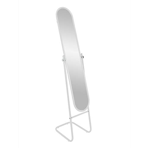 Harter Haushaltswaren-runder freistehender Spiegel - Weiß
