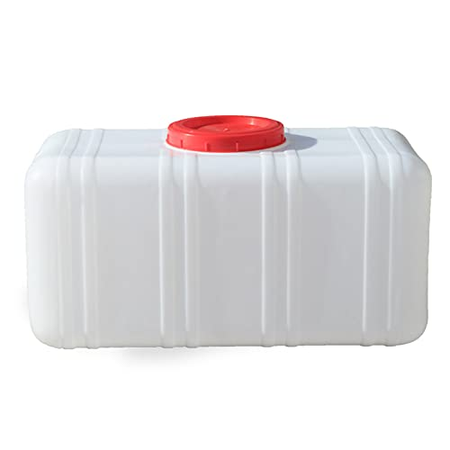 HWhome Contenedor de almacenamiento de agua de 200 l, portátil para camping, contenedor de agua portátil, con grifo, apto para viajes de campo, uso en coche, cubo de almacenamiento rectangular