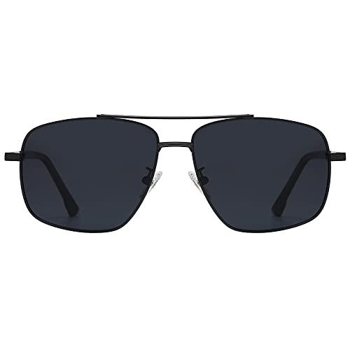 H HELMUT JUST Gafas De Sol Hombre Rectangular Polarizadas Para Conducir Pescar con Montura Metal Nergo