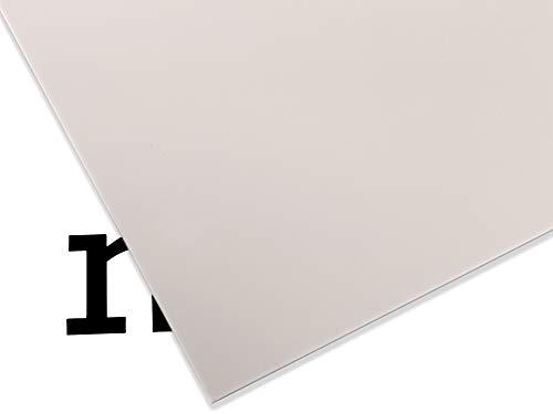 PLEXIGLAS® GS farbig, vielfältig nutzbares und bruchfestes Marken Acrylglas für Lichtobjekte etc, 3 mm dicke PLEXIGLAS® GS Platte in 25 x 50 cm, grau opak (7H32)