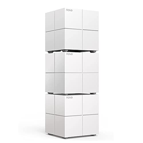 Oferta de Tenda MW6 Nova - Sistema Mesh WiFi para Todo el Hogar (Paquete de 3, Cobertura de Doble Banda de hasta 500 m², Mu-Mimo, Control Parental, Funciona con Alexa)