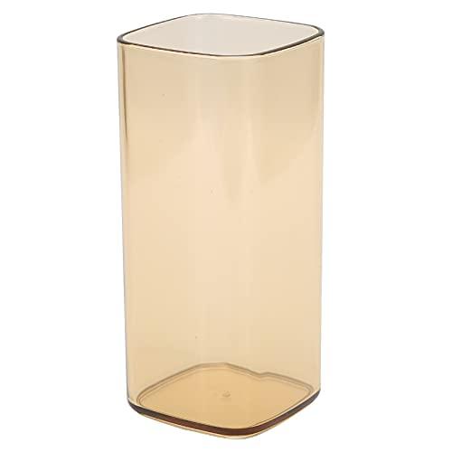Vasos de AcríLico Para Beber de 400 Ml Reutilizables Modernos de Té Leche Jugo Taza de Café Vasos Transparentes Para Beber Utensilios Para Oficina Escuela El Hogar(Latón)