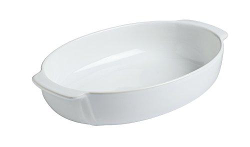 Pyrex 8013105.0Piatto Ovale in gres, Colore: Bianco, Ceramica, Bianco, 24 x 24 cm